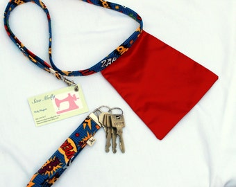 Superhero Lanyard with Cape and coordinating Key Fob