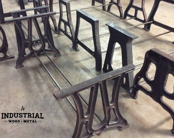 Vintage Industrial Build-to-Suit Cast Iron Table Bases
