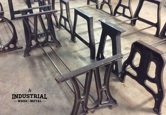 Superior Vintage Industrial Build To Suit Cast Iron Table Bases