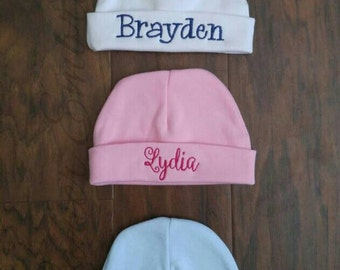 Personalized embroidered Baby Hat-Baby shower gift-Baby boy or girl hat-Newborn baby hat
