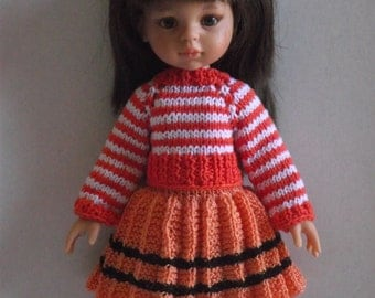 Knitted outfit for Paola Reina and Corolle Les Cheries 13 dolls