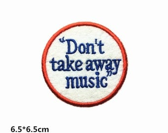 band patches rock patch Embroidered Iron on Patch sew on patch A128