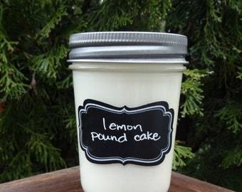 Lemon Pound Cake Soy Candle/Lemon Cake Candle/Lemon Candle/Dessert Candle/Soy Candle/Moms Day Gift/Houswarming Gift/Gift for Her/Cake Soy