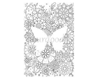 handgezeichnete ausmalbilder von maike geller von fleurdoodles. Black Bedroom Furniture Sets. Home Design Ideas