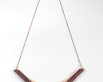 Walnut Parabola Necklace