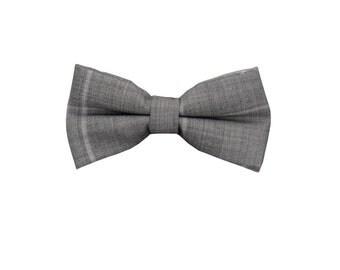 Grey Check Wool Bowtie.Wedding Bowtie.Grey Glen Bowtie.Presents.