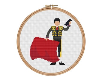 Torero cross stitch, Corrida cross stitch, Bullfighter cross stitch, Toreador cross stitch, Spain cross stitch, PDF Xstitch PDF cross stitch