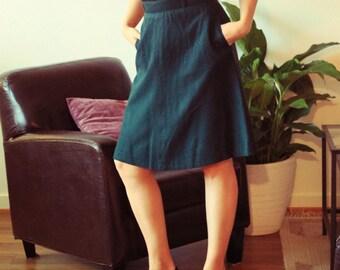 Classic Dark Jade Skirt