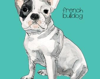 SALE-20% OFF. Custom Dog Portrait-Custom Pet Portrait-Giclee Print.Dog Art. Gift. Personalized Dog Portrait. Memorial. Dog Portrait