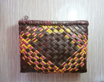 Brown Woven Pouch