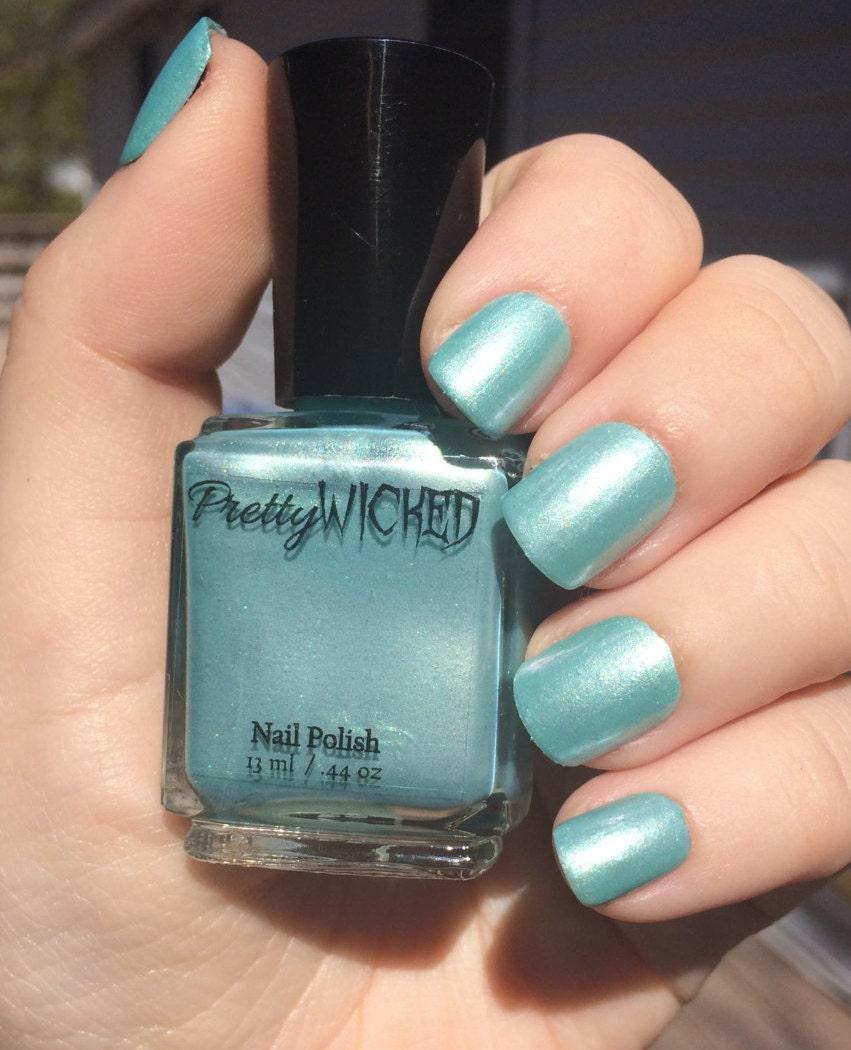 Blue Nail Polish The Block: Pastel Blue Nail Polish, Dinah Polish, Pastel Blue Nail