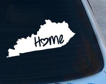 Kentucky Decal - State Decal - Home Decal - KY Sticker - Love - Laptop - Macbook - Car Decal
