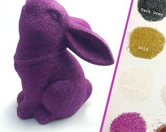ANY COLOUR - Glitter rabbit statue