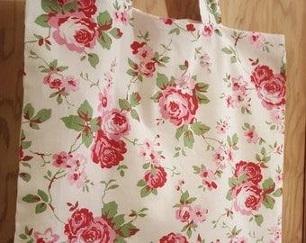 Handmade tote shopping bag