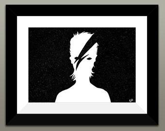 Starman - David Bowie Tribute Print