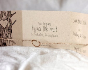 Tying the Knot Save the Date Set of 72 • Rustic Save the Date • Knot Wedding Invitation • Tree Save the Date • Stationary • Save Our Date
