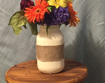 Mason Jar Vase - Hand Painted