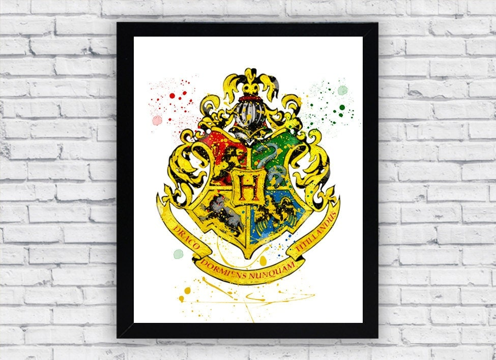 This is a photo of Clean Hogwarts Crest Printable
