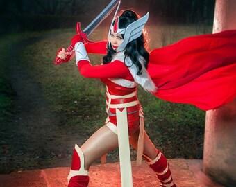 Marvel comics - Lady Sif handmade cosplay costume + sword