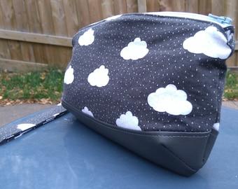 Rain Clouds Wristlet, Clutch, Diaper Clutch - Ready to Ship