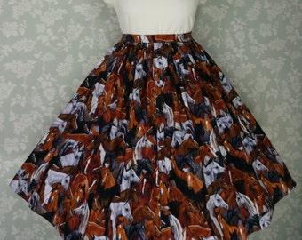 Horse print circle skirt