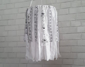 Be Brave,Fabric Chandelier,Teepee and Arrow,Baby Mobile, Nursery,Gender Neutral Nursery,Kids Room, Toddler Room, Black and White, Home Decor