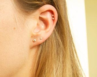 Sterling silver ball stud earrings, ball earrings, tiny bead studs, tiny stud earrings, sterling silver studs, tiny silver studs,A18002-8004