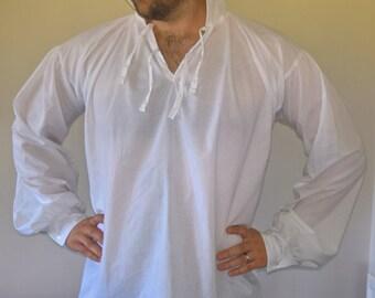 Cotton Lawn Regency/Georgian Men's shirt