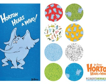 Dr Suess Horton Hears a Who Fabric 8 FQ + 1 Panel Bundle