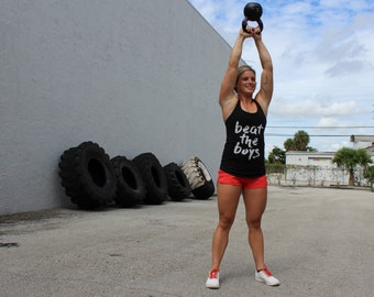 Beat the Boys CrossFit workout tank for women