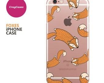 Foxes iPhone 7 Case, Foxes iPhone 6s Case, Foxes iPhone 6 Case, Foxes iPhone 6/s Plus Case (Shipped From UK)