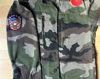 French Army camouflage Jacket with patch