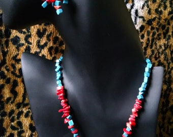 Turquoise and Red Coral