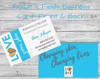 Rodan + Fields Business Card-Love Your Skin- Rodan and Fields- Printable