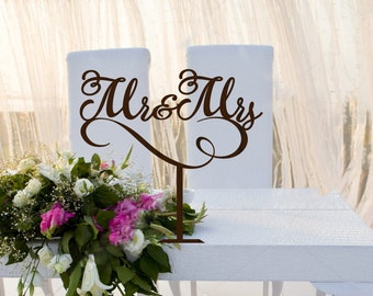 Mr end Mrs Wedding  Table  Signs Wedding Sign  Wedding Decor  Wedding  Mr & Mrs Rustic Wedding Sign