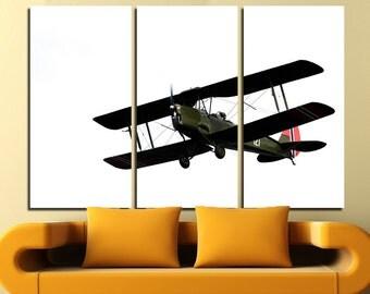 Aircraft Wall Art Multi Panels Set Plane Wall Art Aircraft Canvas Art Jets Wall Art Old Plane Print Poster Aircraft Wall Canvas MultiPanel