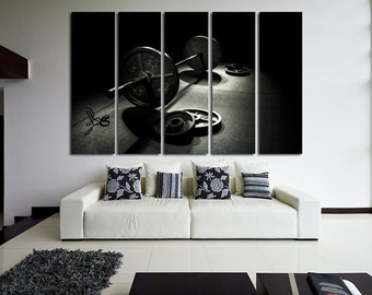 Fitness Motivation Workout Crossfit Gym Decor Wall Art