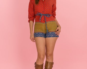 Vintage Gypsy Girl Romper (Size Petite Small)