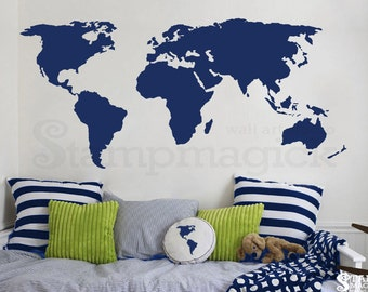 United States of America Map Wall Decal USA Wall Map vinyl