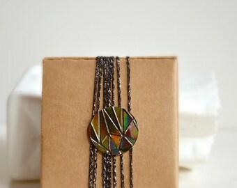 Circle Stickers {50} Metallic Holographic Black Bronze Foil Embossed Gem Round Gift Envelope Seals Wedding Engagement Sparkly Wrap