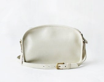 1970's Off White Coach Crossbody Bag New York City