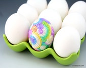Rainbow Easter Egg in Pastel Fimo Filigree (Medium)
