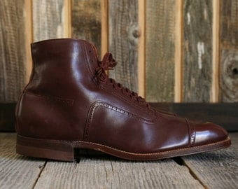 SALE- 1910s Hi-Top Oxford Shoes . Edwardian Footwear