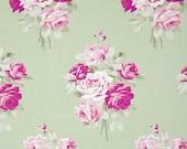 Sale - 2 yards - Slipper Roses by Tanya Whelan - Slipper Bouquet TW084 Green