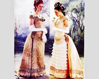 Butterick Historical Pattern Victorian Ball Gown With Bustle Misses Size 6 8 10 Small UNCUT Victorian Dress and Bustle Sewing Pattern