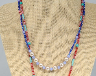 The Ariel, double strand necklace