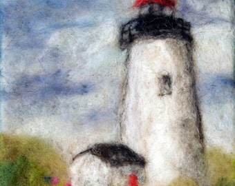 "068 ""Lighthouse"" Thyme Tile Needle Felting Pattern Kit"