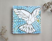 Dove Notebook with Blank Pages ~ spiral bound ~ mosaic dove ~ bird lover gift ~ gift under 5 pounds ~ thank you gift ~ gift for teacher