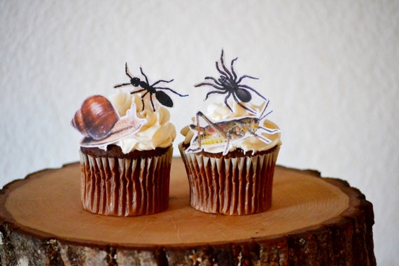 Edible Creepy Crawlers Cake & Cupcake toppers - PRECUT and Ready to Use