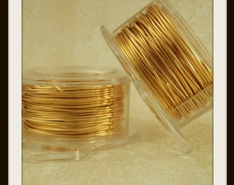By the Foot 14 gauge Non Tarnish Gold Colored Wire 100% Guarantee
